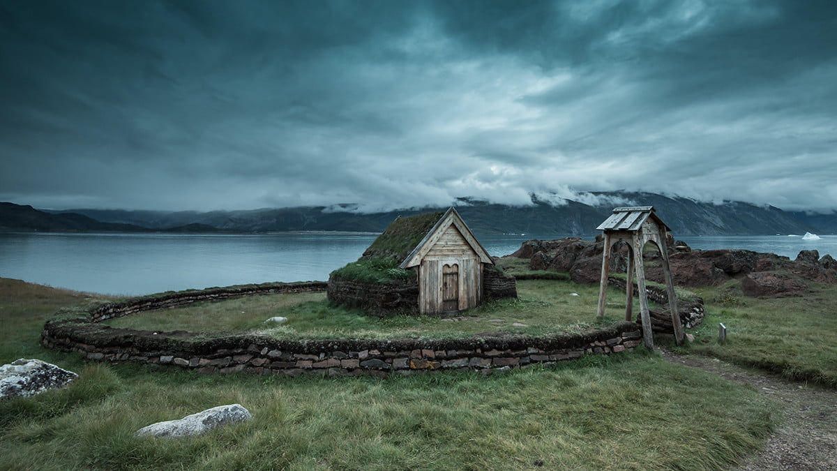 travel southern greenland gear reconstructed church