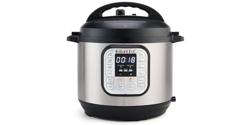 Instant Pot Duo Mini 3-quart 7-in-1 on a white background.