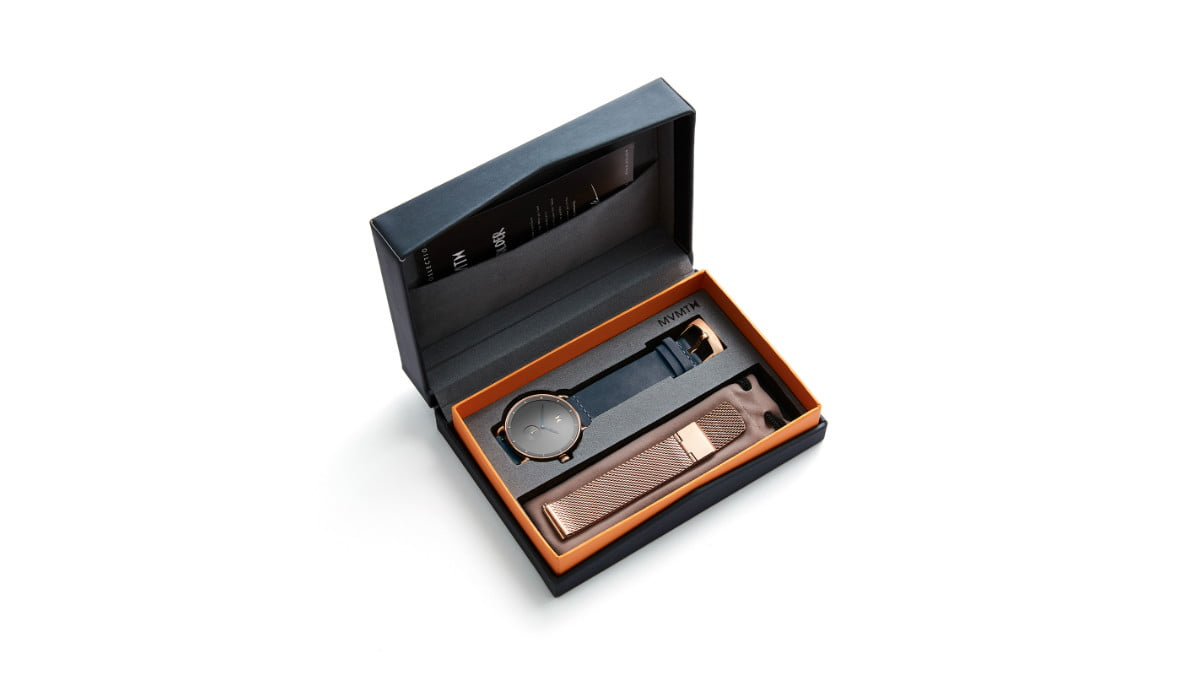this mvmt revolver watch sold out in less than a day kolder mens leather box open