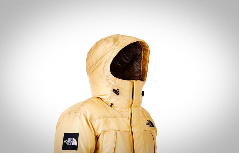 the north faces prototype moon parka coat is made of synthetic spider silk nf1