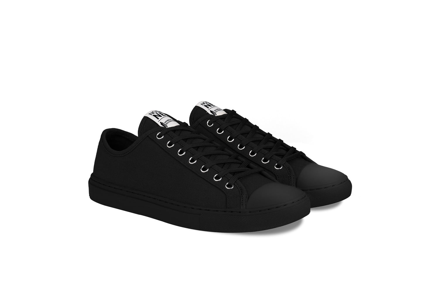 nothing new sustainable sneakers shoes allblack low top