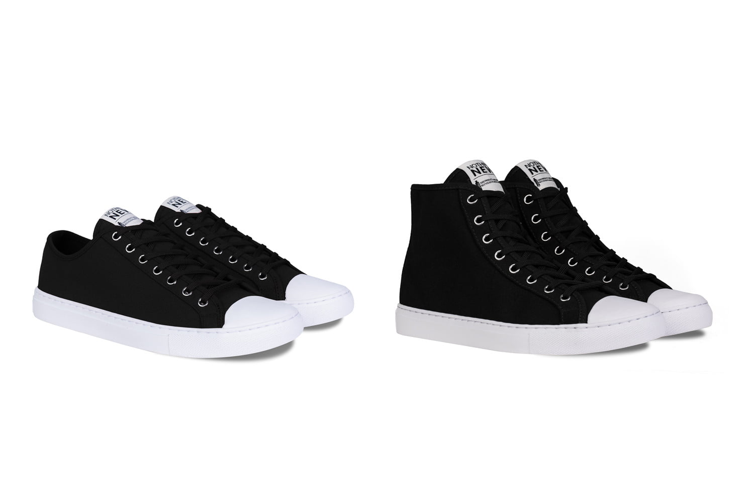nothing new sustainable sneakers shoes black lowhigh top