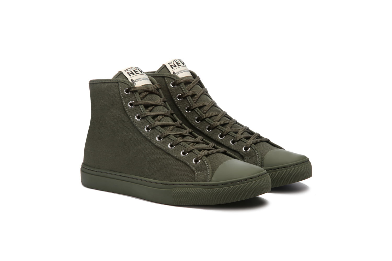 nothing new sustainable sneakers shoes forestgreen high top
