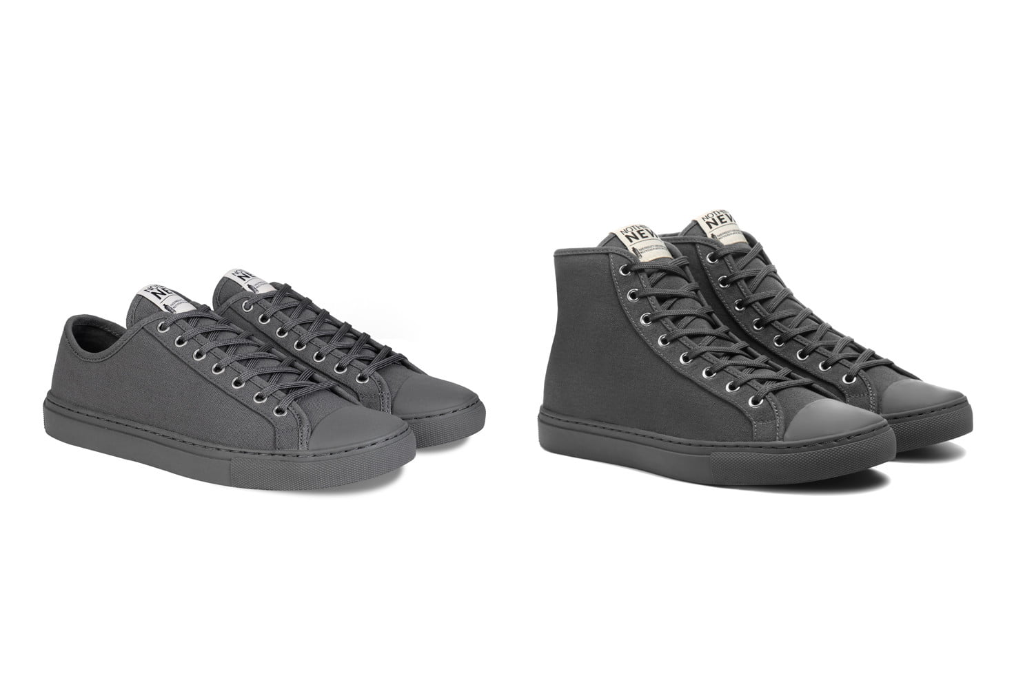 nothing new sustainable sneakers shoes grey lowhigh top