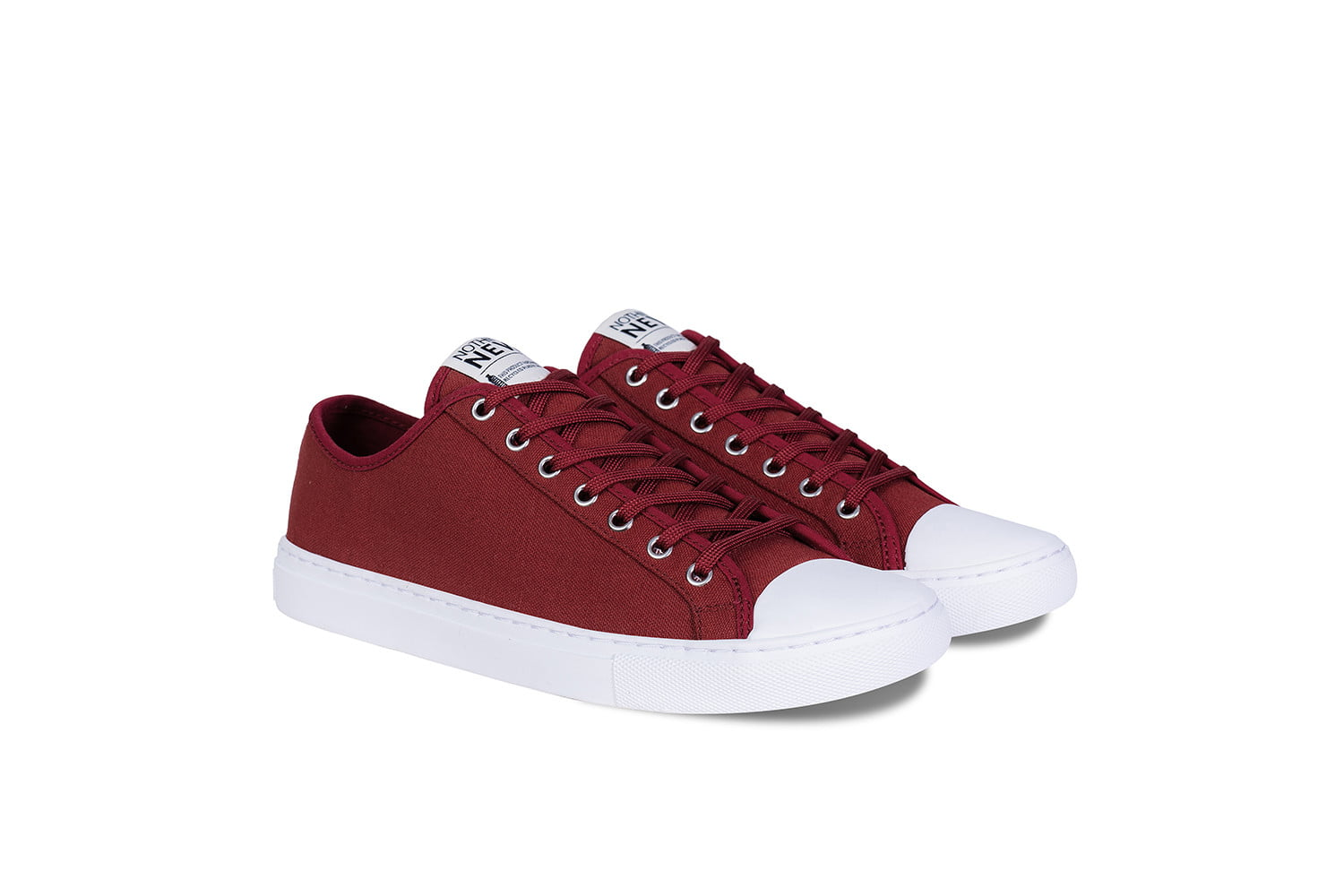 nothing new sustainable sneakers shoes red low top