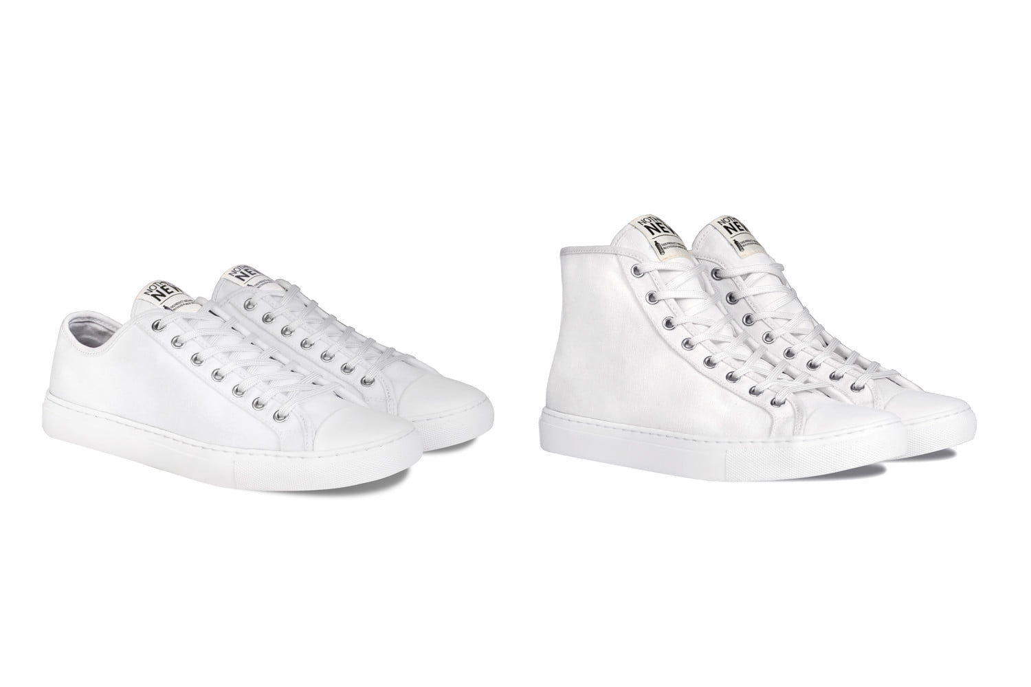 nothing new sustainable sneakers shoes white lowhigh top