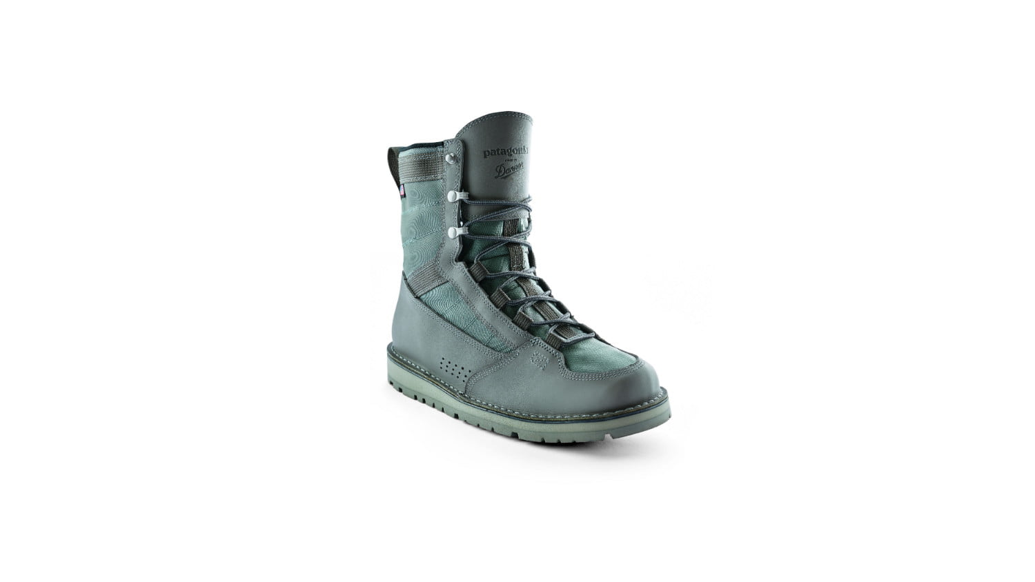 patagonia x danner fishing boots collab river salt boot  white backdrop