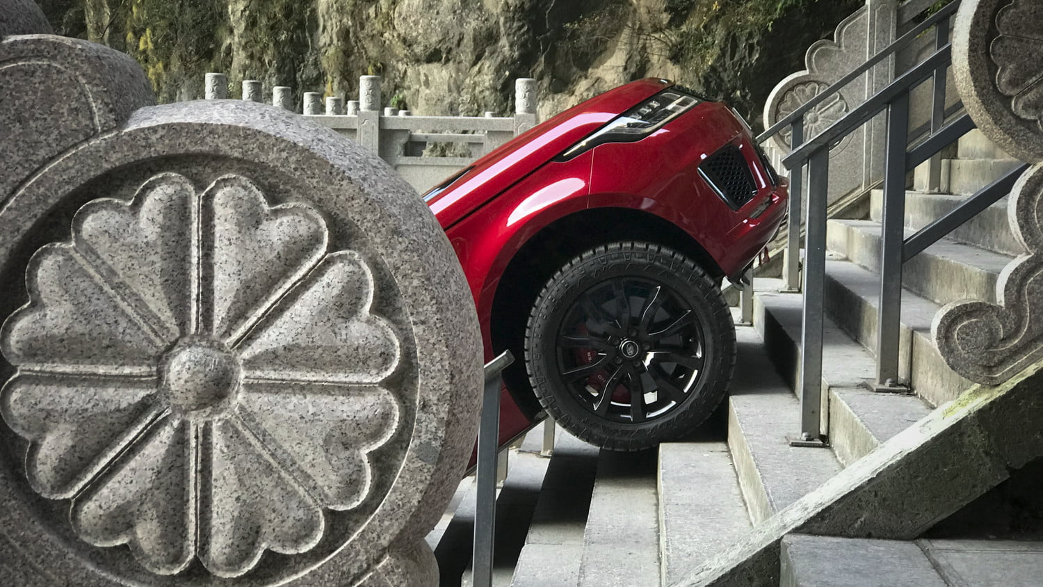 range rover sport heavens gate off road test in china 9