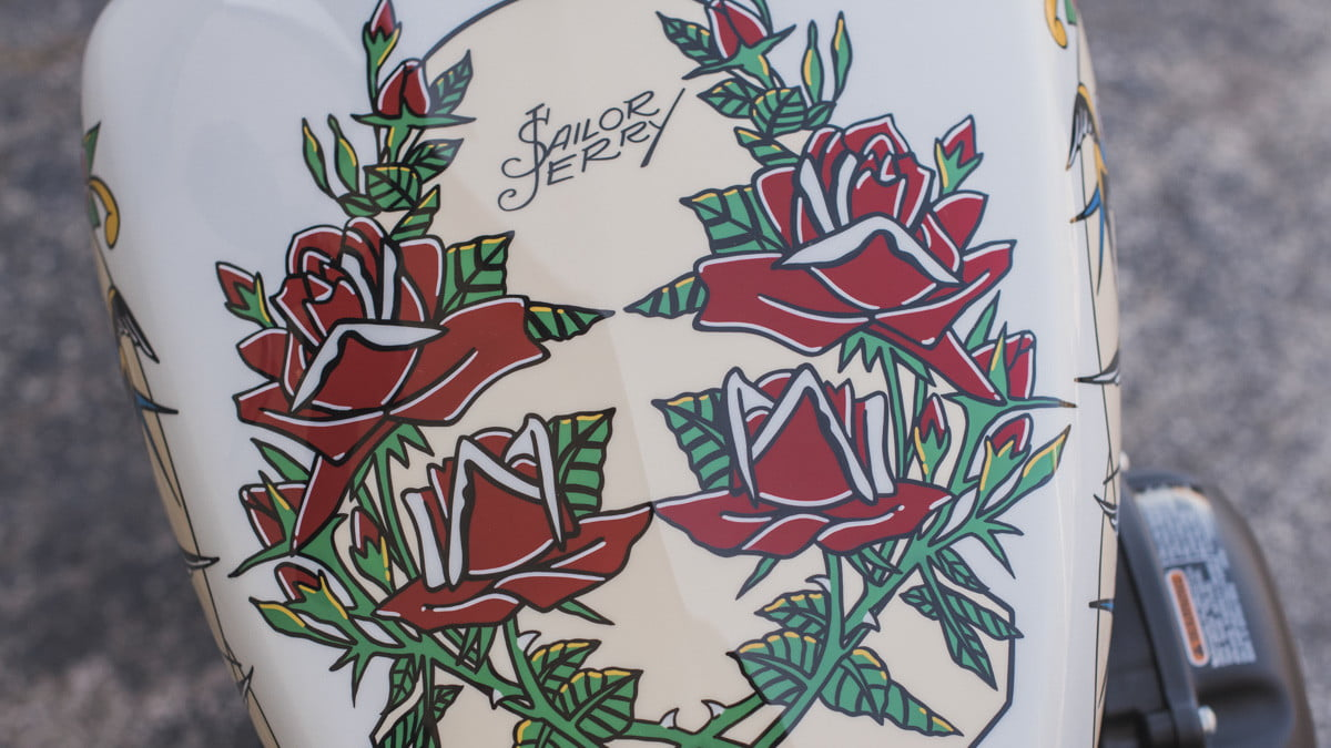 sailor jerry harley davidson my work speaks for itself and designs closeup