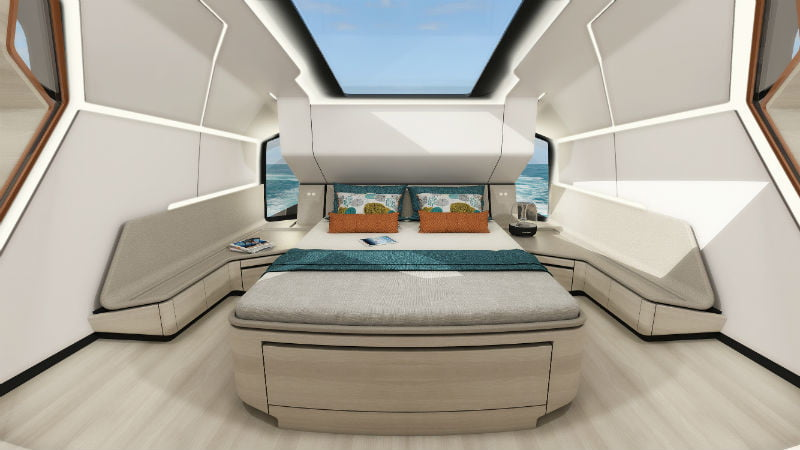 Superfly GT 42 master bed