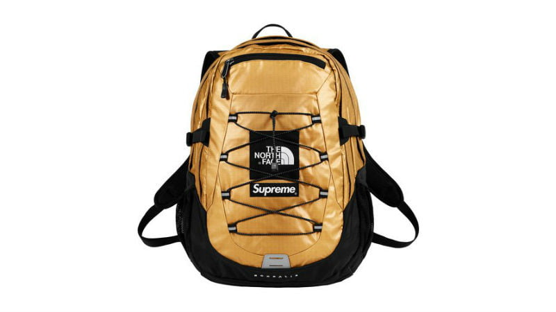 the north face supreme borealis backpack gold