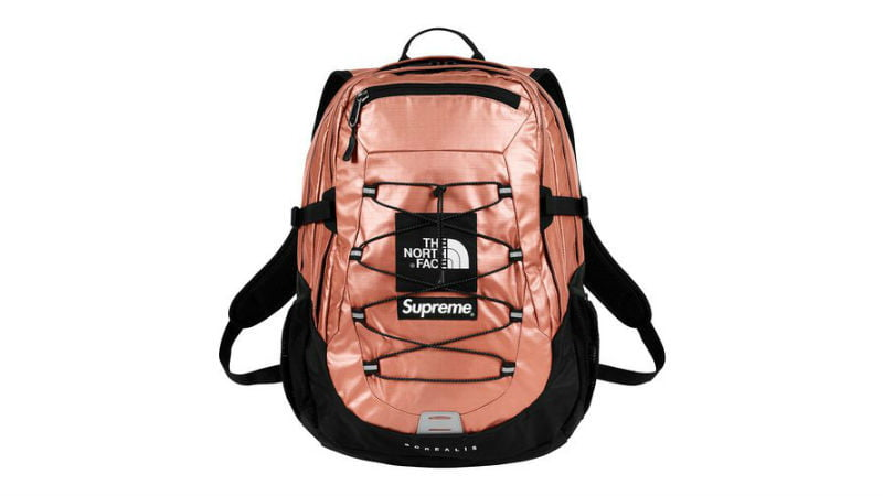 the north face supreme borealis backpack rose gold