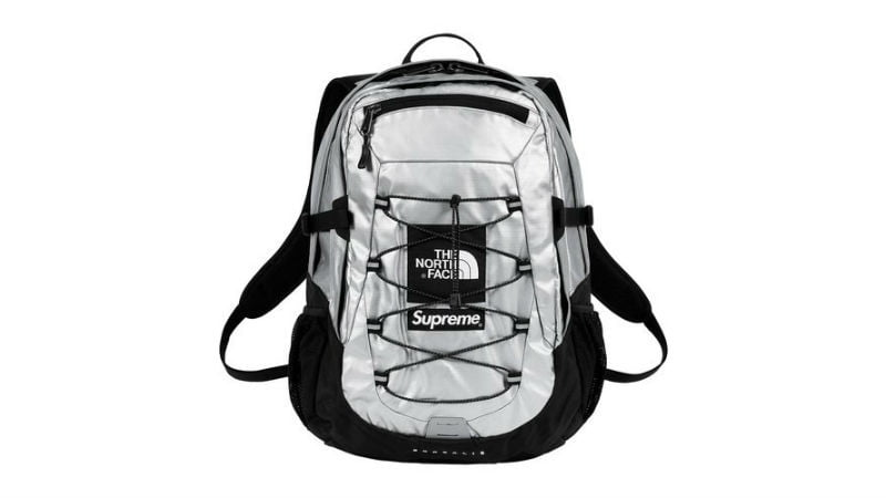 the north face supreme borealis backpack silver