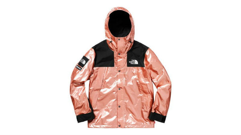 the north face supreme mountain parka rose gold