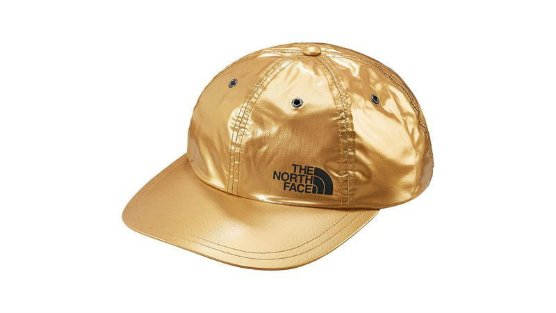 the north face supreme panel hat gold