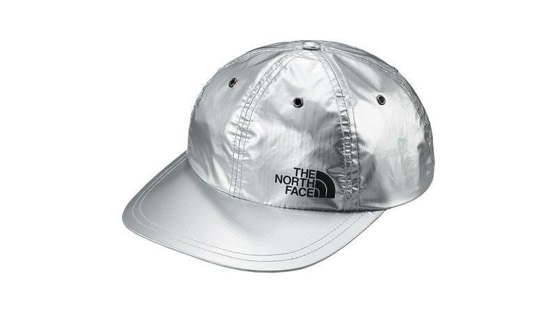 the north face supreme panel hat silver