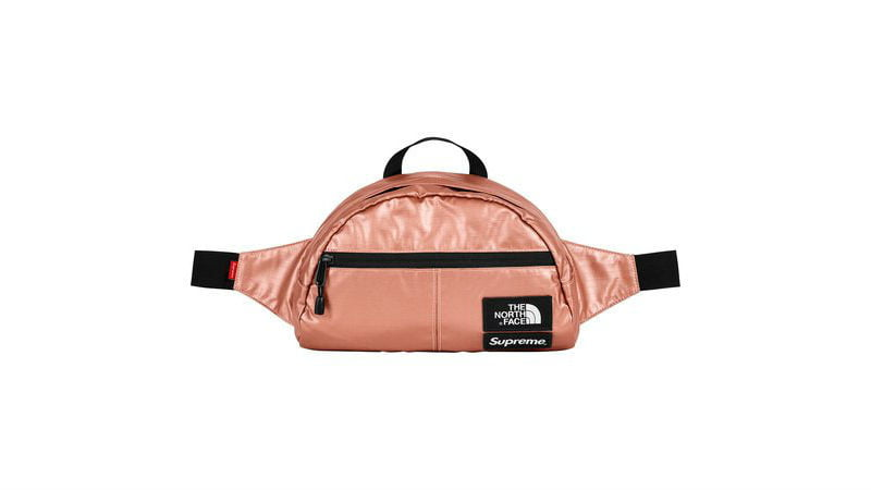 the north face supreme roo ii lumbar pack rose gold