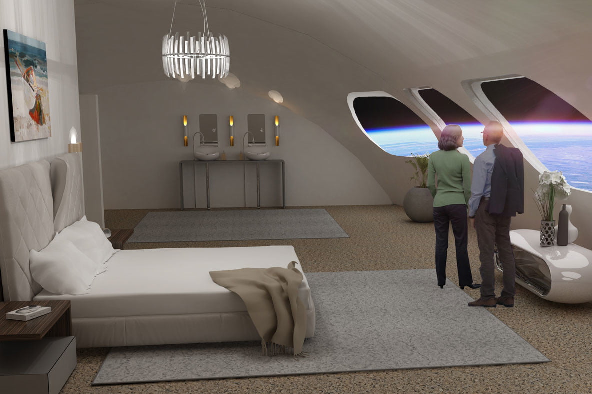 Voyager Station Space Hotel Guestroom