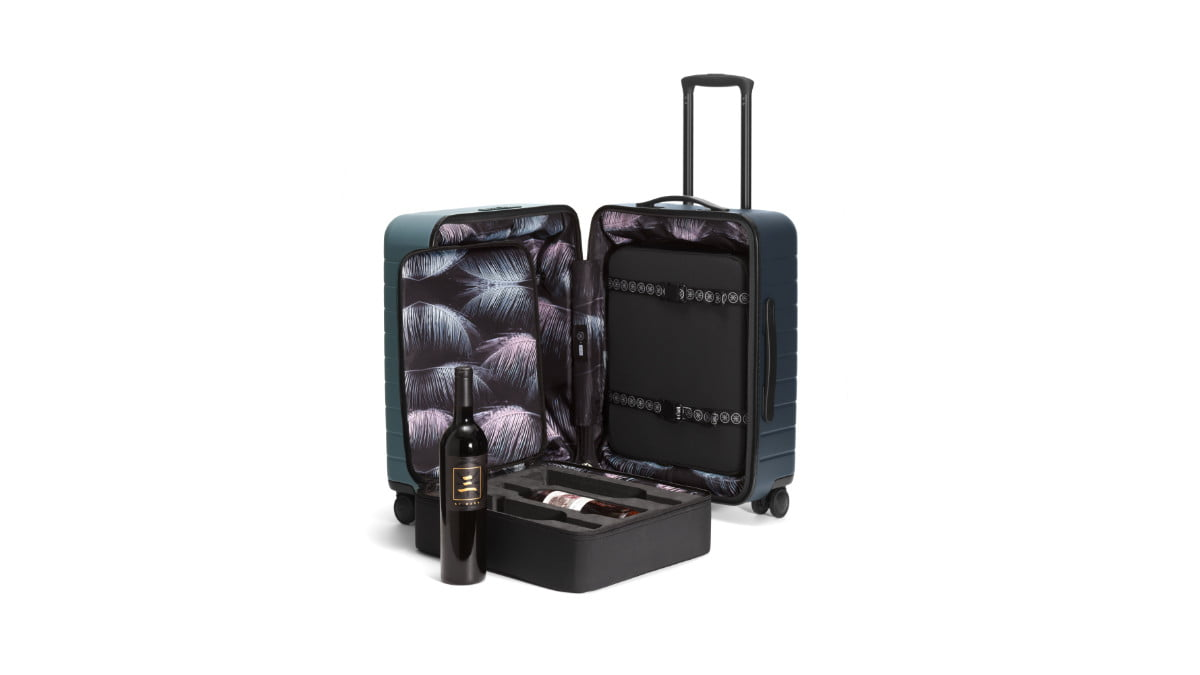 away x dwyane wade second collab wine suitcase 2