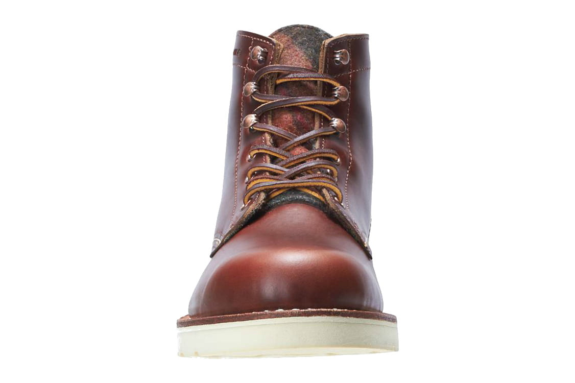wolverine collab 1000 mile boots stormy kromer detroit denim x wedge front tongue
