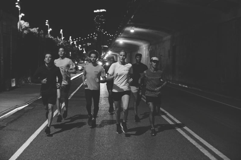 Zara athletes take to the streets, sporting its new Athleticz line.